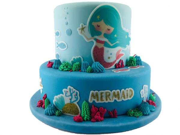 Kuchen Tattoo Mermaid 2 Fondant Tortendeko