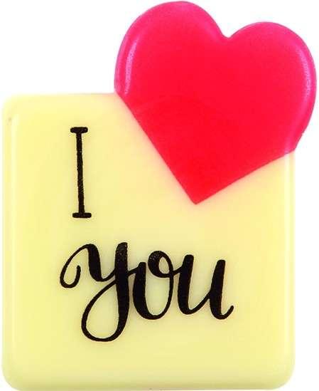 "Schokoladendeko ""I Love you"" ca.30x35mm 120 Stck"