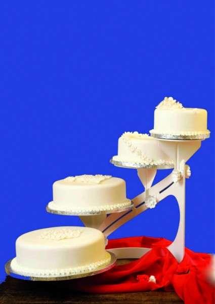 Tortenständer Classic weiß 4 Etagen Profi Qualität