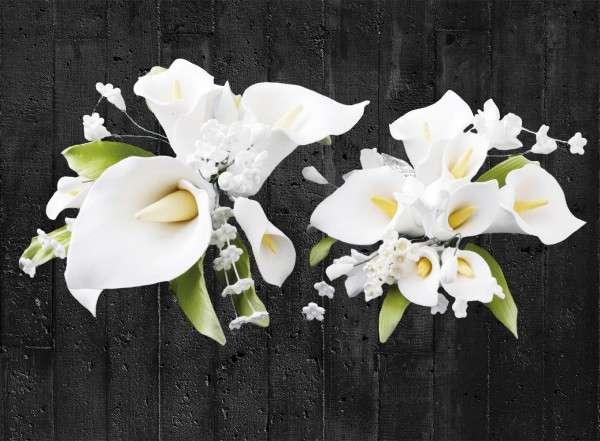 Zuckerblumenbouquet Calla 2 Stück