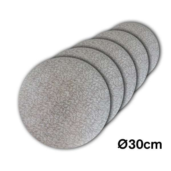 Tortenplatte 300 mm Ø Cake Drum silber ca.3mm dick 5 Stck