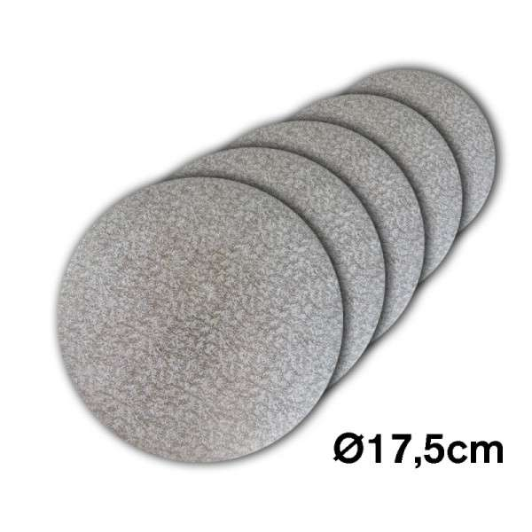 Tortenplatte 175 mm Ø Cake Drum silber ca.3mm dick 5 Stck