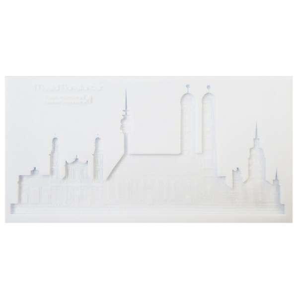 Silikonform Skyline München ca. 21 x 10,7 x 1 cm