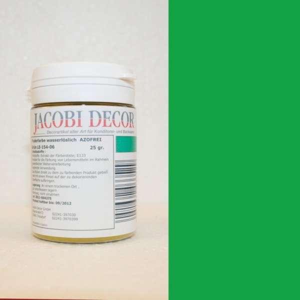 Puderfarbe wasserlöslich grün 25 gr AZOFREI