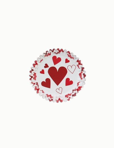 Cupcake-Formen foliert Herzen