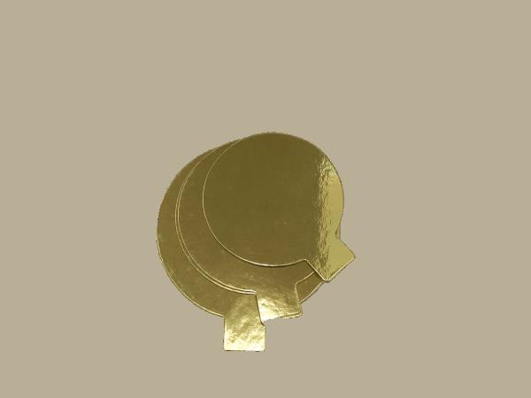Goldpappe rund 90mm ca.1mm dick , 50 Stck