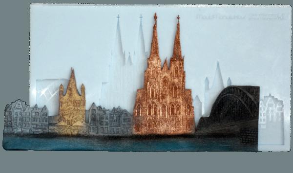 Silikonform Skyline Köln 22 x 12,5 x 1cm