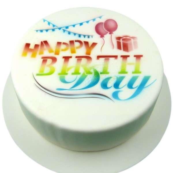 """Schablone """"Happy Birthday Mix""""Set 2 Schablonen Happy Birthday ca.17cm, Zahlen 2cm"""