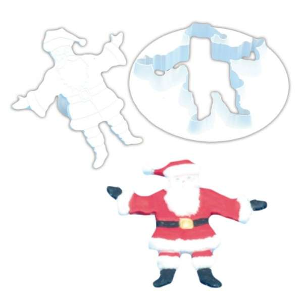 Weihnachtsmann Ausstecher 2er Set mit Auswurf