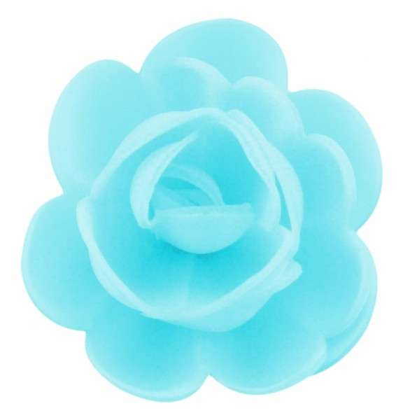 Esspapier Rosen groß blau 50mm 36 Stück