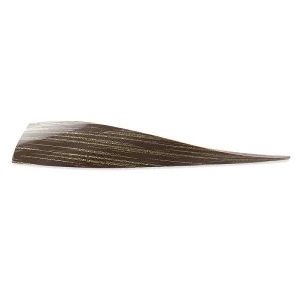 Schokoladendeko Welle goldene Streifen Länge 100mm 81 Stck