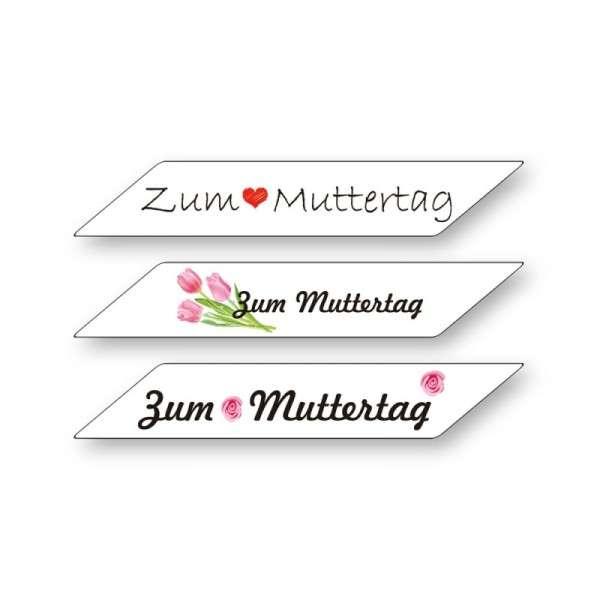 """Schriftzüge Zucker """"Muttertag"""" 880x200mm 36 Stck"""