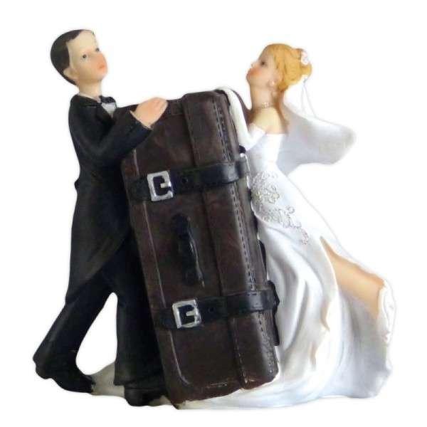 Brautpaar mit Koffer JD-10539