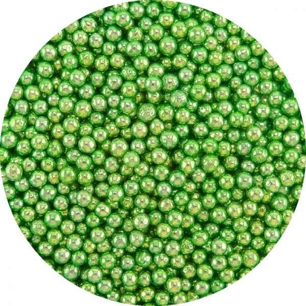 Zuckerperlen Metallic Grün ca.4mm 950g