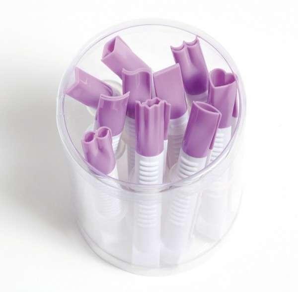Marzipankneifer Set Kunststoff 10 Formen, glatter Rand