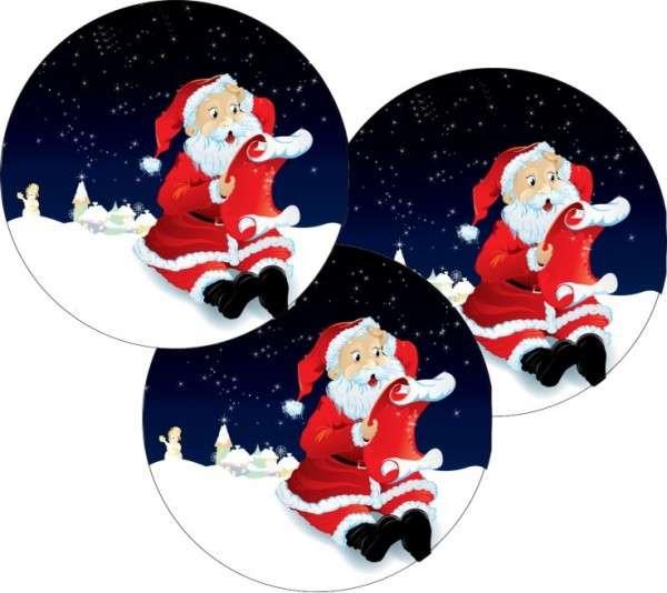 """Esspapieraufleger """"Weihnachtsmann"""" 4cm 96Stück"""