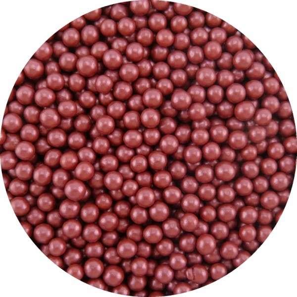 Zuckerperlen Metallic Bordeaux ca.4mm 950g