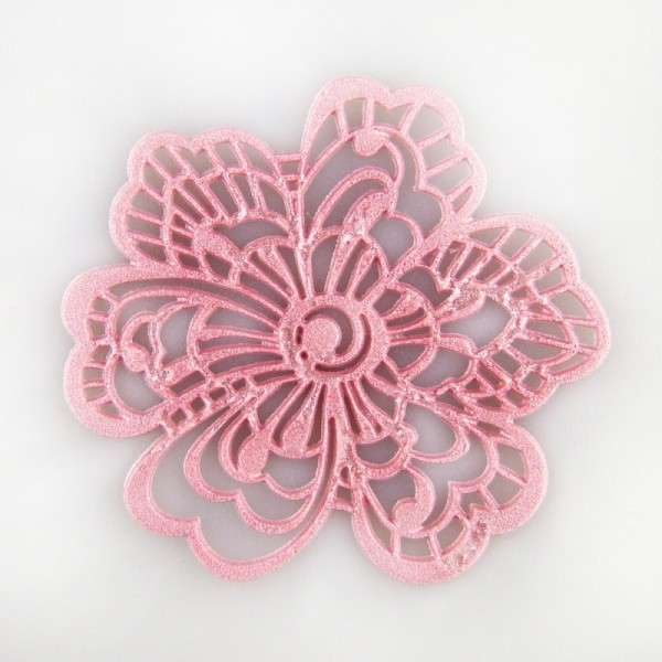 "Sweet lace-pearl rosa ""Blüte"" ca.5cm essbare Spitze - fertig zum Gebrauch"