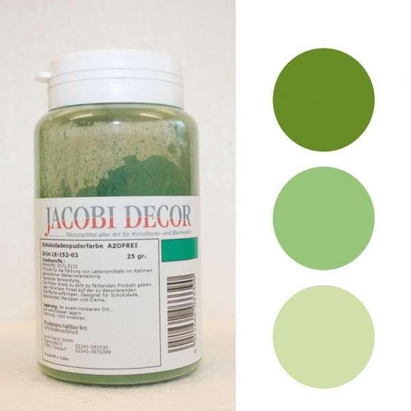 Puderfarbe Grün, 25g, fettlöslich & azofrei