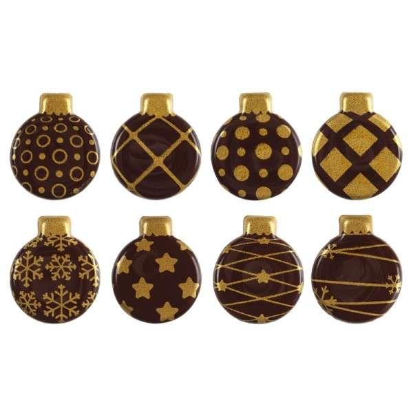 Schokolade Weihnachtskugeln Gold sortiert ca. 25mm , 300 Stck