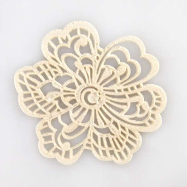 "Sweet lace-pearl perlmutt ""Blüte"" ca.5cm essbare Spitze - fertig zum Gebrauch"