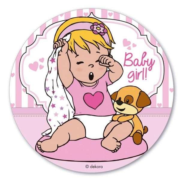 Esspapieraufleger Baby Girl