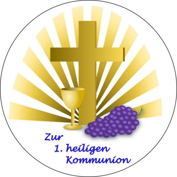 """Zuckeraufleger """"Zur Kommunion"""" 100mm 12 Stck"""