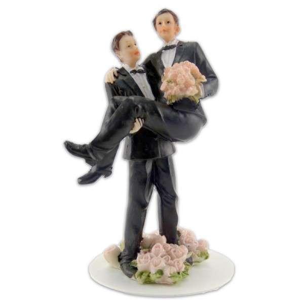 Männerpaar im schwarzen Anzug