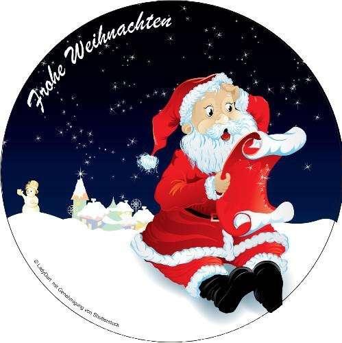 """Zuckeraufleger 10 cm """"Weihnachtsmann"""" SB-1-110001"""