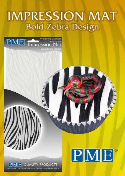 Prägematte Zebra Matten Größe 150x305mm